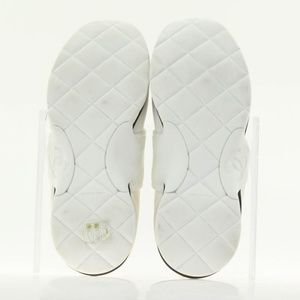 CHANEL Shoes - Chanel White Stretch Knit Speed High Sneakers